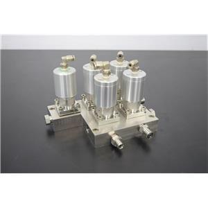 Used: Swagelok 6LVV-MSM-DP-2-P-C StainlessSteel 2-Port Diaphragm Sealed Valve Manifold