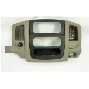 02-05 Dodge Ram 1500 2500 3500 Center Dash Radio Climate Bezel with Vents 12V