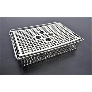 Used: Tissue Processor Specimen Basket Twelve Sections w/Lid and Handles Warranty