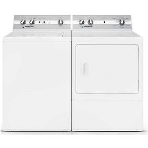 Speed Queen White Top Load Washer & Front Load Dryer set TC5000WN / DC5000WE