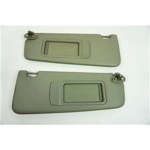 2010-2015 BMW X1 Sun Visor Set Covered Non-Lighted Mirrors