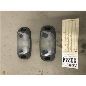 1999-2004 Ford F350/F250 Lariat XLT grey dome lights pair as53244