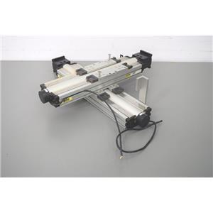 Used: Dual Parker 404150/404100XRMSD2H1 Linear Precision Actuators 77822-201 Encoders