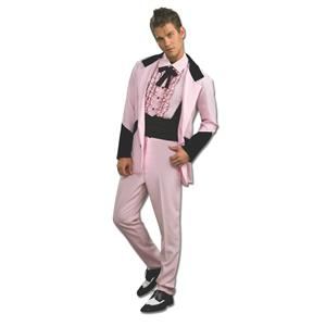 Pink Lounge Lizard 50's Prom King Suit Adult Costume Size Standard