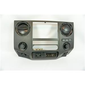 11-16 Ford F250 F350 Center Dash Radio Climate Bezel with Vents 12V Hill Descent