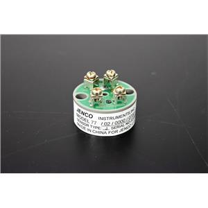 Jenco Model 77, 77/02/0000/0700/C Type J Temperature Transmitter with Warranty