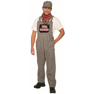 Train Engineer Overalls Costume for Adults