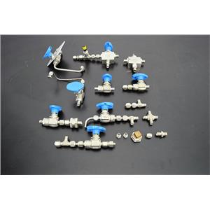 Hoke 9 piece Valve Bodies with Connectors 3/8 in and some Quick Connect Warranty