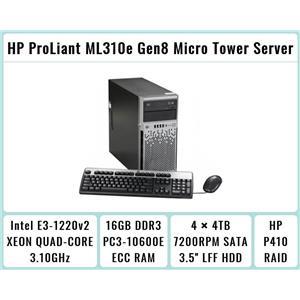 HP ProLiant ML310e Gen8 Tower + E3-1220 v2 Quad-Core Xeon 3.1GHz + 16GB RAM