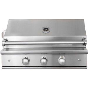 "NIB Caliber CrossFlame Silver 35"" halogen built-in natural gas grill CGA352GRN"