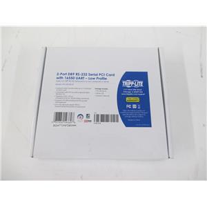 Tripp Lite PCI-D9-02-LP 2-Port DB9 (RS-232) Serial PCI Card Low Profile - SEALED