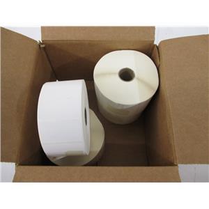 """Wasp 633808402501 2"""" x 1"""" TT Paper Labels (4 Rolls, 2300/Roll) - NEW, OPEN BOX"""