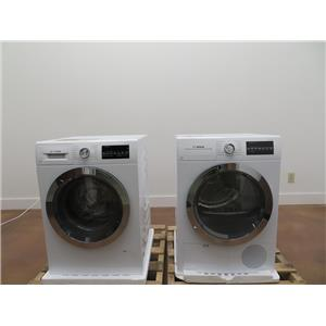 Bosch 800 Series White Washer & Dryer Set WAT28402UC / WTG86402UC Combo