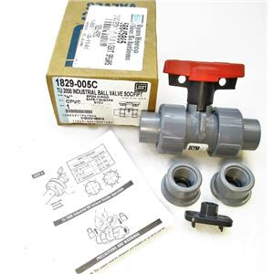 "Spears 1829-005C 1/2"" TU-2000 Industrial Ball Valve CPVC SOC/FIPT New"