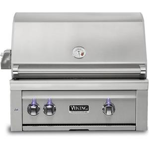 Viking Professional 5 Series 30 Inch  Blue LED SS Built -In Grill VQGI5300NSS