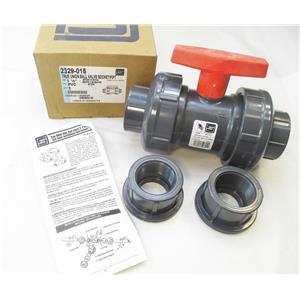 """Spears 2329-015 1 1/2"""" PVC True Union Ball Valve Socket/FIPT EPDM New"""