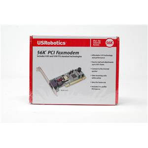 New US Robotics 5670 56K PCI Faxmodem V.92 and V.90