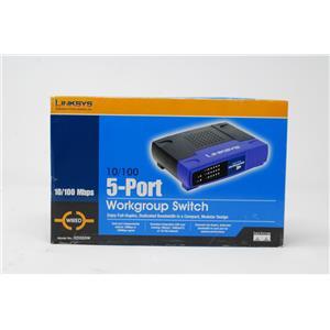 New Linksys EZXS55W 10/100 5-Port Workgroup Switch
