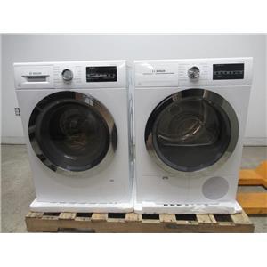 Bosch 800 Series White with Chrome Washer/Dryer Set WAT28402UC / WTG86402UC