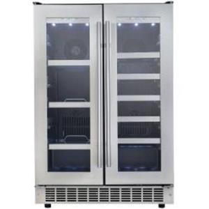 """NIB Danby Silhouette 24"""" Built-In SS French-Door Beverage Center DBC047D3BSSPR"""