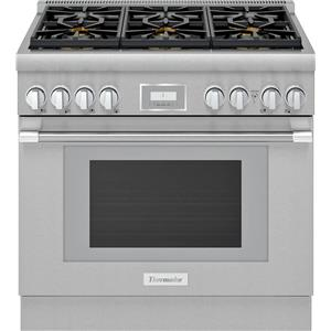 """Thermador Pro Harmony Professional 36"""" Smart Pro-Style Gas Range PRG366WH"""