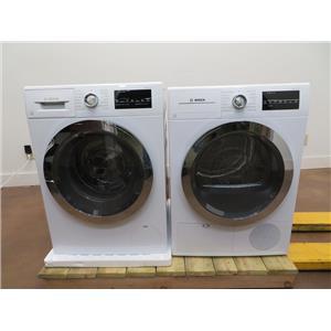 Bosch 800 Series White Interior Light Washer & Dryer Set WAT28402UC / WTG86402UC (6)