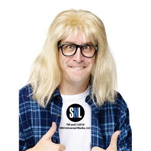 Saturday Night Live Garth Algar Wig and Glasses Costume Accessory Set