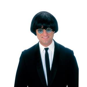 Yeah! Yeah! Yeah! Mens 60's Black Shaggy Rock Star Costume Wig