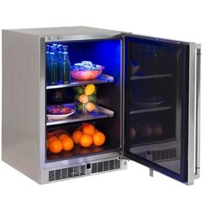 """Lynx Professional Grill Series LM24REFR 24"""" Compact Stainless Steel Refrigerator"""