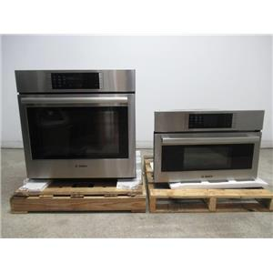 "Bosch Benchmark 30"" 14 Modes Steam Stainless Combination Wall Oven HSLP751UC"