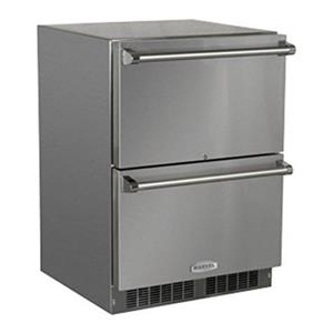 """Marvel 24"""" Stainless Steel Outdoor Refrigerator Drawers - MO24RDS3NS"""
