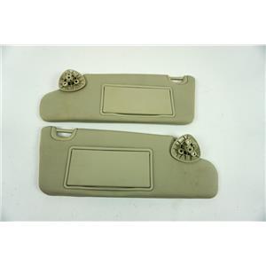 2006-2011 Chevrolet HHR Sun Visor Set Pair Adjustable Bars Covered Mirrors