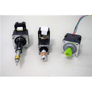 Used: Lot of 3 Small Electric Motors, 2 w/ Encoders, 1 Servo Motor w/Gearhead Warranty