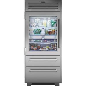 "NIB Sub-Zero 36"" Dual Refrigeration Bottom Freezer Refrigerator PRO3650GLH"