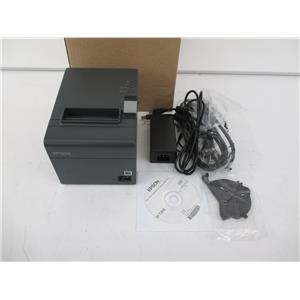 EPSON C31CD52062 EPSON T20II Serial/USB Thermal Receipt w/Power Supply Dark Gray
