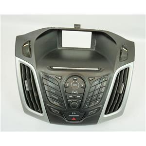 12-14 Ford Focus Sedan 4-Dr Radio Dash Center Bezel Hazard Switch Vents