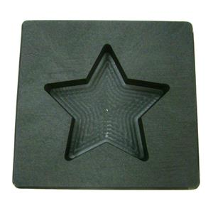 3 oz Gold Texas STAR Shape High Density Graphite Mold 1.5oz Silver Bar-USA Made