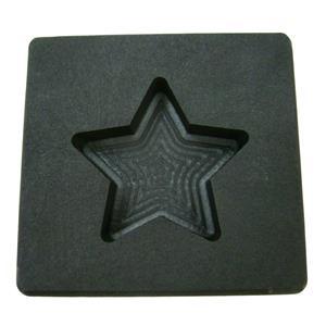 2 oz Gold Texas STAR Shape High Density Graphite Mold 1oz Silver Bar-USA Made