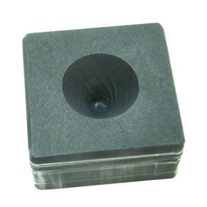 3oz High Density Graphite Mini Conical Mold- Assy Gold Silver Black Sand Cone