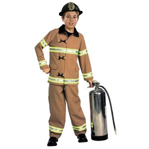 Kids Firefighter Fireman Child Costume Toddler Size 2-4