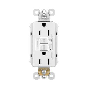 Legrand 1597TRAW radiant Audible Alarm Tamper-Resistant 15A Self-Test Duplex GFCI White