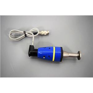 Leybold-Heraeus 162-02 Vacuum Gauge with Connector for Helium Leak Detector
