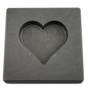 Valentines Day Heart 5oz Gold High Density Graphite Mold 3oz Silver Necklace