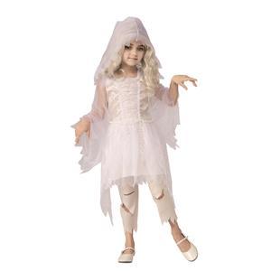 Ghostly Spirit White Dress Girls Costume Medium 8-10
