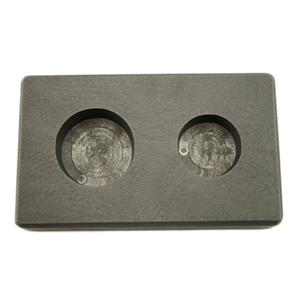 1 oz & 2 oz Round Gold Bar High Denisty Graphite Mold Combo - Silver Copper