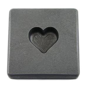 1 oz Gold Valentines Day Heart High Density Graphite Mold .5 oz Silver Necklace