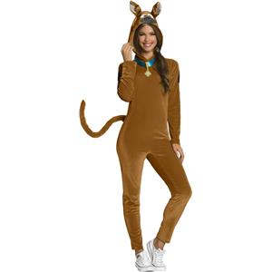 Scooby Doo Adult Pajama Jumpsuit with Hood Costume Large