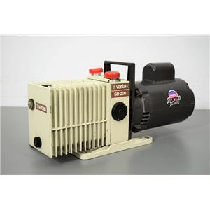 Varian SD-200 Dual Stage Vacuum Pump with Franklin ½ HP Motor w/ 90-Day Warranty