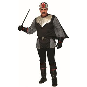 Dark King Medieval Black Adult Mens Costume