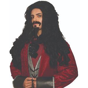 Pirate Captain Hook Adult Black Wig